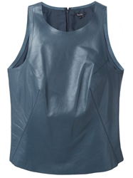 Raoul 'Racer' Leather Tank Top Blue