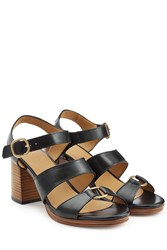 A.P.C. Leather Sandals Black