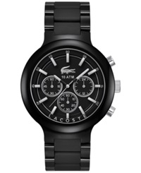 Lacoste Men's Chronograph Borneo Black Resin Composite Bracelet Watch 44Mm 2010770