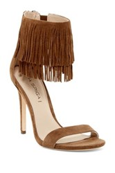Via Spiga Tabia Fringe Sandal Brown