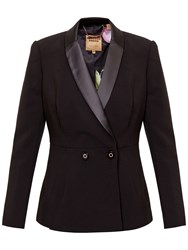 Ted Baker Double Breasted Tux Blazer Black
