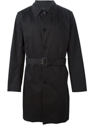 Ps Paul Smith Belted Trench Coat Black