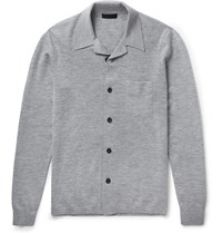 Burberry Cashmere Blend Cardigan Gray