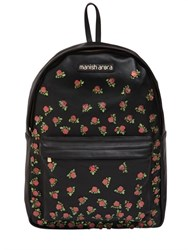 Manish Arora Rose Patches Leather Backpack