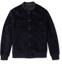 Richard James Cotton Corduroy Bomber Jacket Blue