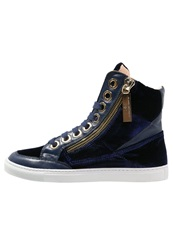 Elisabetta Franchi Hightop Trainers Inchiostro Dark Blue