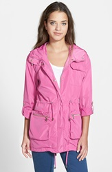 Steve Madden Packable Hooded Jacket Pinkberry