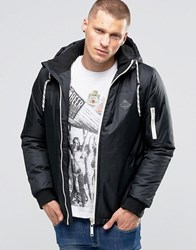 Blend Of America Hooded Parka Jacket Black Black