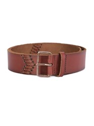 Paige Eyelet Detail Belt Brown