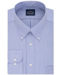 Eagle Men's Big And Tall Classic Fit Stretch Collar Non Iron Blue Stripe Dress Shirt