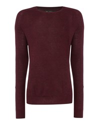 Label Lab Men's Nova Raglan Sleeve Crew Neck Deep Red