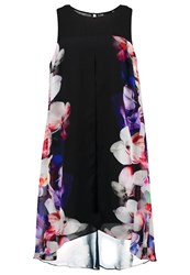 Live Unlimited London Summer Dress Black Purple Multi