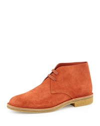 Bottega Veneta Suede Desert Boot Orange Men's Size 45Eu 12Us