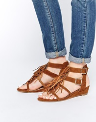 Supertrash Elena Gladiator Tassle Sandals Cognac
