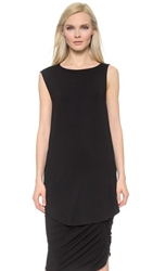 Zero Maria Cornejo Side Drape Mini Tunic Black