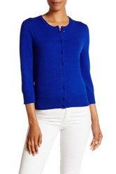 Cable And Gauge Jackie O Cardigan Blue