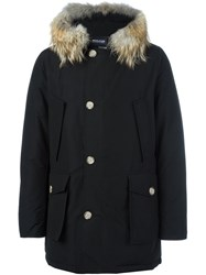Woolrich Multi Pocket Parka Coat Black