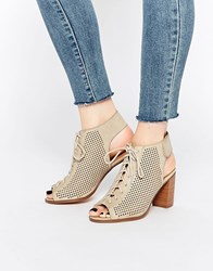 Call It Spring Adreliven Stone Peep Toe Shoe Boots Stone