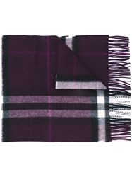 Burberry Brit Plaid Scarf Pink And Purple