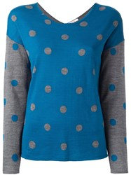 Sun 68 Polka Dot Jumper Blue