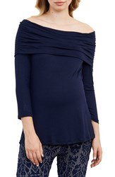 Maternal America Women's Off The Shoulder Maternity Top