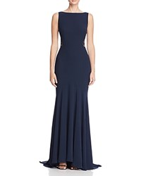 Jarlo Lace Detail Gown Navy