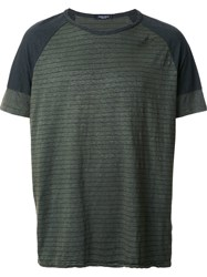 Roberto Collina 'Overdyed Military' T Shirt Green