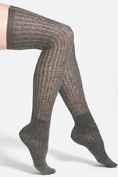 Vince Camuto Lightweight Over The Knee Socks Gray