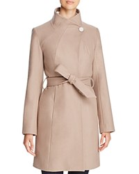 T Tahari Isabelle Belted Coat Coco