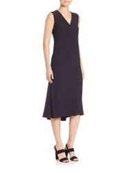 Akris Punto Peplum Hem Midi Dress Navy