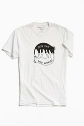 Valley Cruise Press Dog Eat Dog Tee White