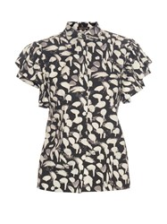 Sophie Theallet Lupita Ruffle Trimmed Cotton Shirt