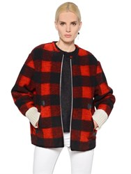 Etoile Isabel Marant Checked Boiled Wool Blend Jacket