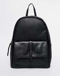 Pieces Backpack With Front Pocket And Strap Detail Black