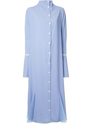 N Duo Button Down Dress Blue
