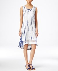Styleandco. Style And Co. Tie Dyed Crochet Hem Dress Only At Macy's Shibori Escape