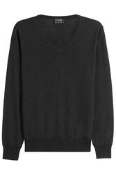 Jil Sander Pullover With Wool And Silk Black