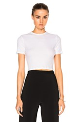 Rosetta Getty Cropped Short Sleeve T Shirt In White