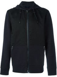 Lanvin Zipped Up Hoodie Blue