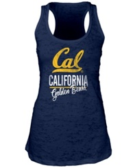 Blue 84 Women's California Golden Bears Racerback Burnout Tank Top Navy