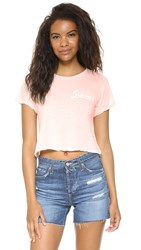 Wildfox Couture Sinner Middie Tee Arizona Blush