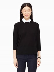 Kate Spade Collared Relaxed Sweater