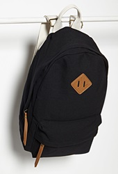 Forever 21 Classic Canvas Backpack Black