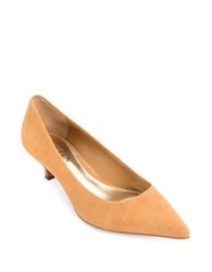 Lauren Ralph Lauren Abbott Kitten Heel Slip On Pumps Camel