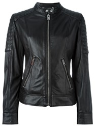 Diesel Panelled Zipped Up Jacket Black