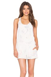 Obey Maven Short Overall Pink