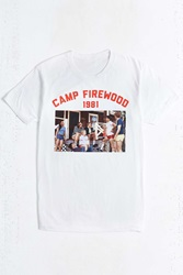 Urban Outfitters Wet Hot American Summer Camp Firewood Tee White