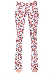 Just Cavalli Heart Printed Viscose Pants