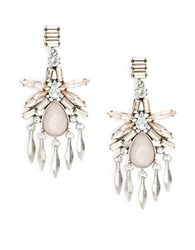 Robert Rose Crystal Chandelier Earrings Blush