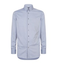 Giorgio Armani Geometric Circle Print Shirt Male Grey